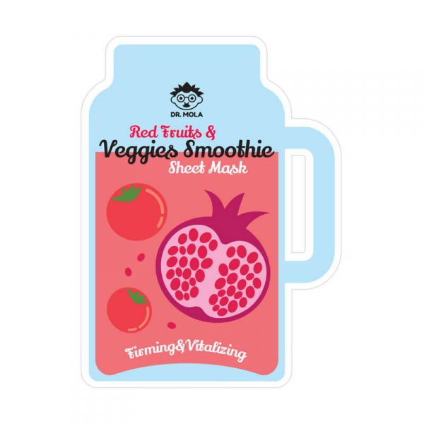DR. MOLA Red Fruits & Veggies Smoothie arcmaszk