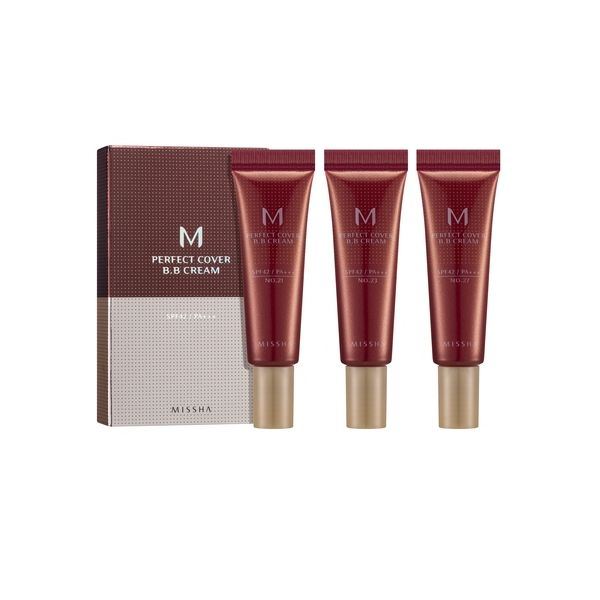 Missha M Perfect Cover BB krém 3x10ml szett