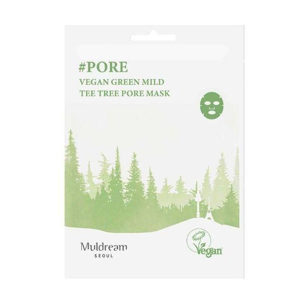 Muldream Vegan Green Mild póruskezelő arcmaszk