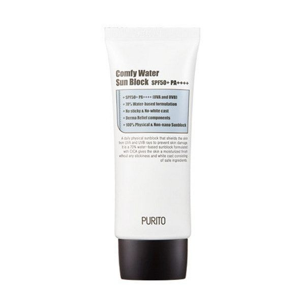 PURITO Comfy Water fényvédő SPF50+/PA++++