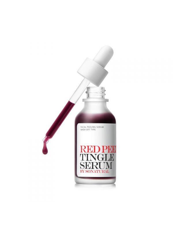 So Natural Red Peel Tingle hámlasztó szérum