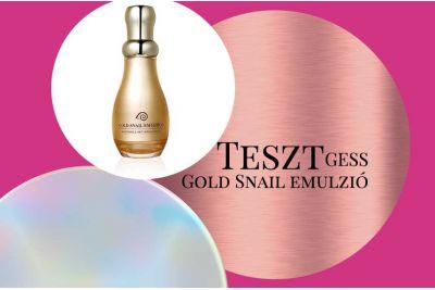 Teszt: GESS Gold Snail emulzió