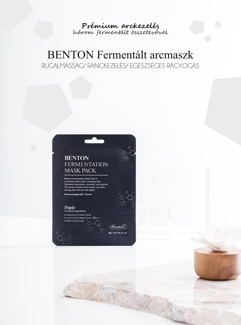 Benton-fermentalt-arcmaszk-leiras