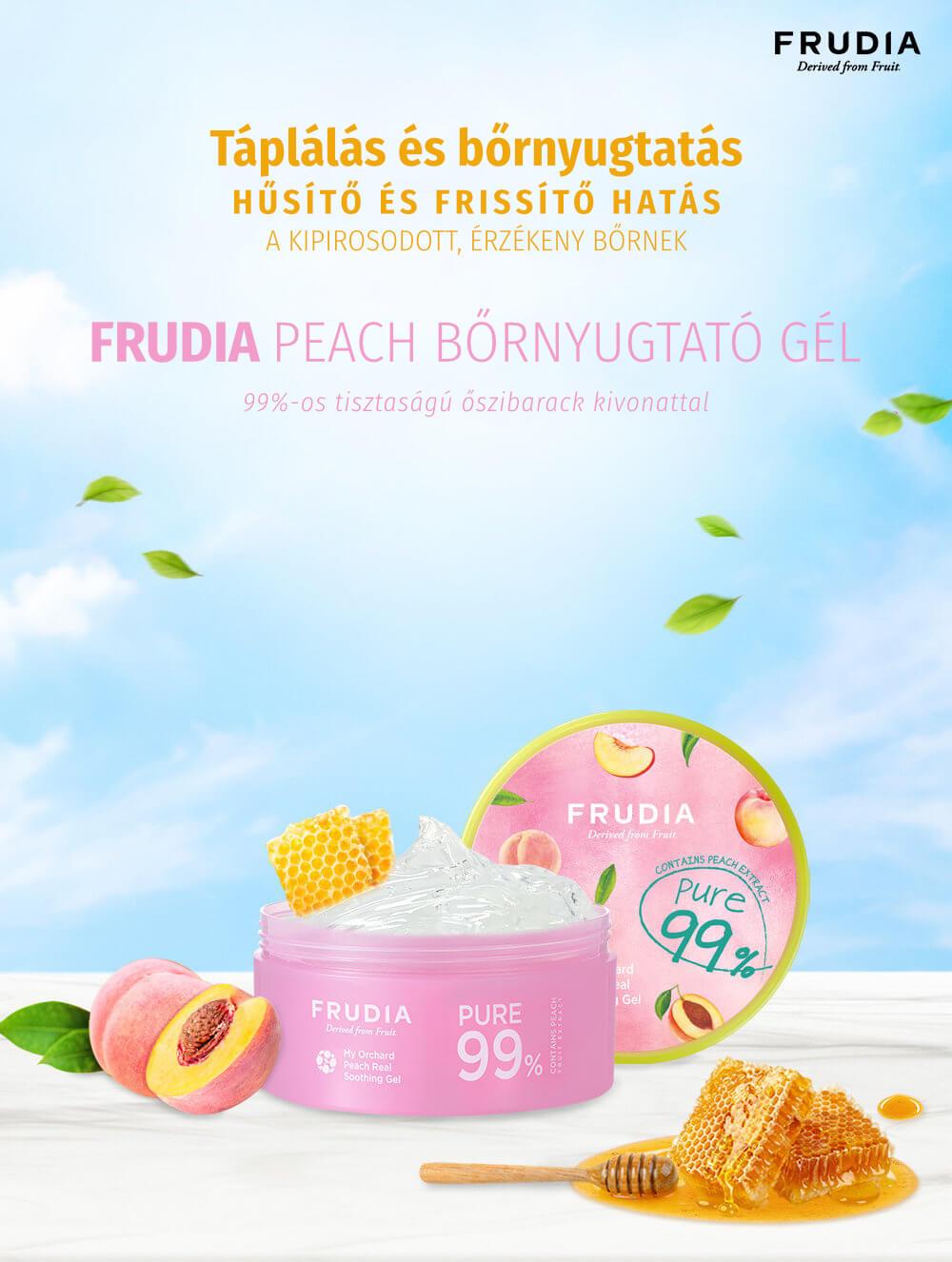 Frudia-peach-bornyugtato-gel-des
