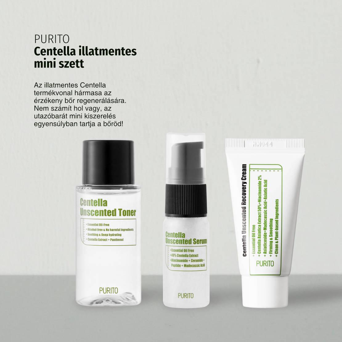 Purito-Centella-illatmentes-mini-szett