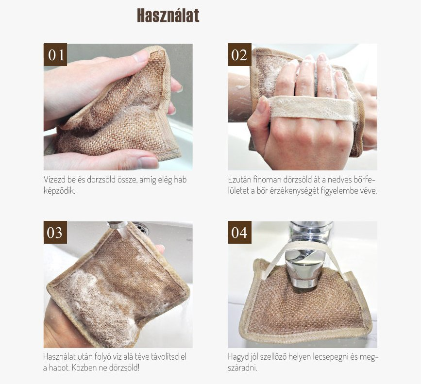 So Natural Bőrsimító testradír és tisztító szappan használat